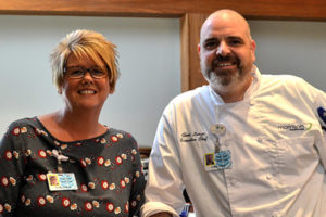 Trudi Nowlin and Executive Chef Chris Lanza