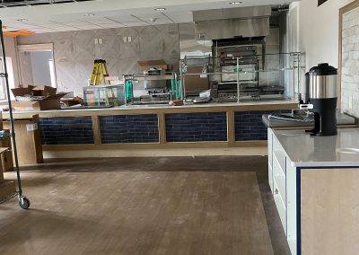 view towards counter